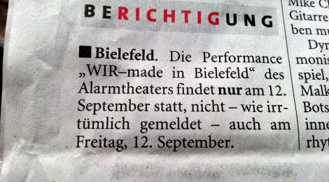 """WIR - made in Bielefeld"" am 13. September"